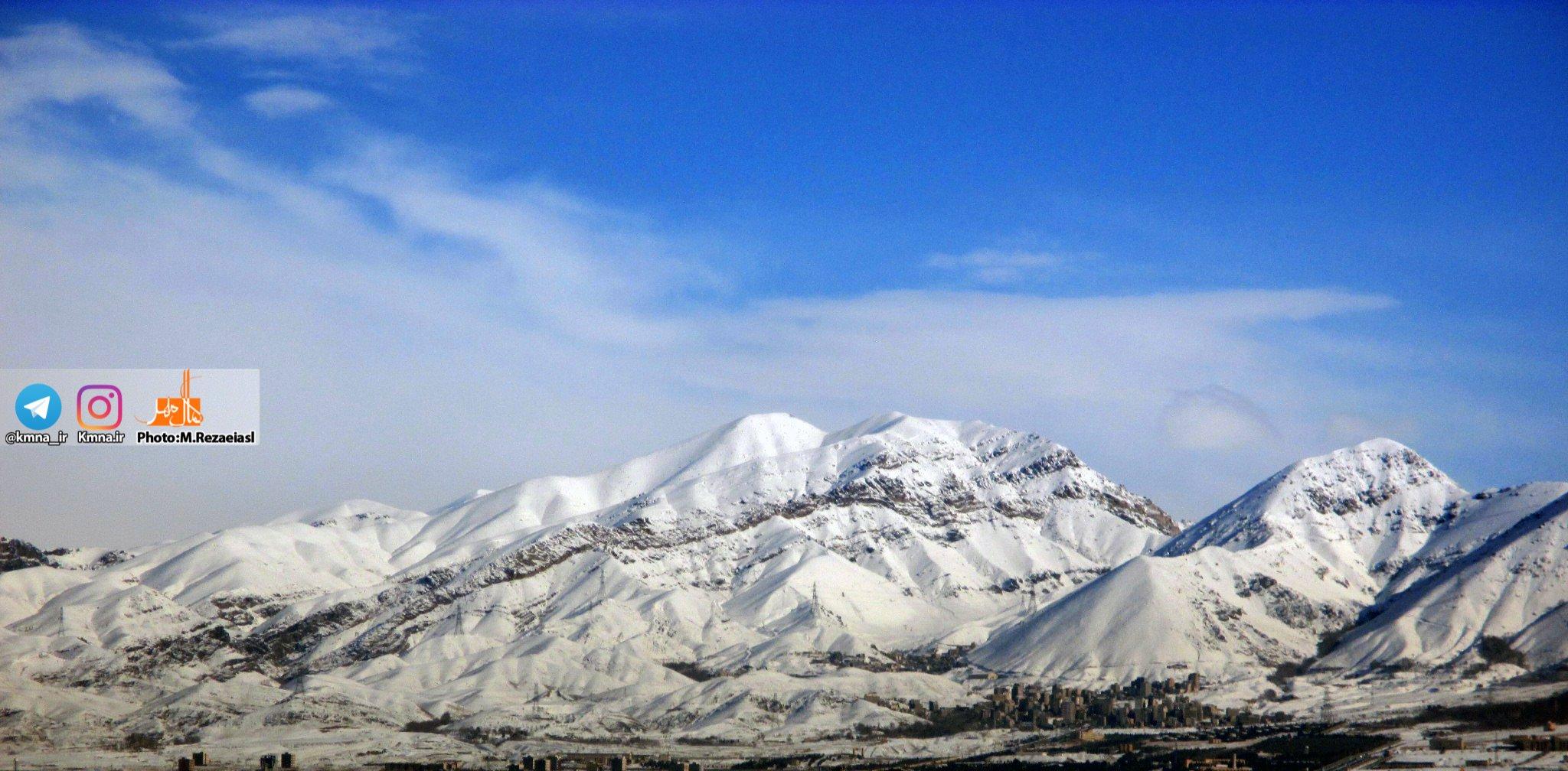 تصاویر/آسمان البرز پس از یک شب برفی، نفسی تازه کرد