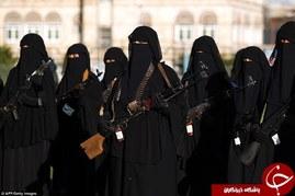 رژه زنان ارتش یمن ضد آل سعود +تصاویر