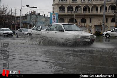حکایت بارش باران و معضل تردد در کرج