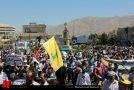 راهپیمایی بزرگ البرز نشینان در روز قدس عزیز/ سیلی سخت مردم روزه دار به اسرائیل و حامیانش/ امضای طومار مخافت با سند2030 توسط راهپیمایان