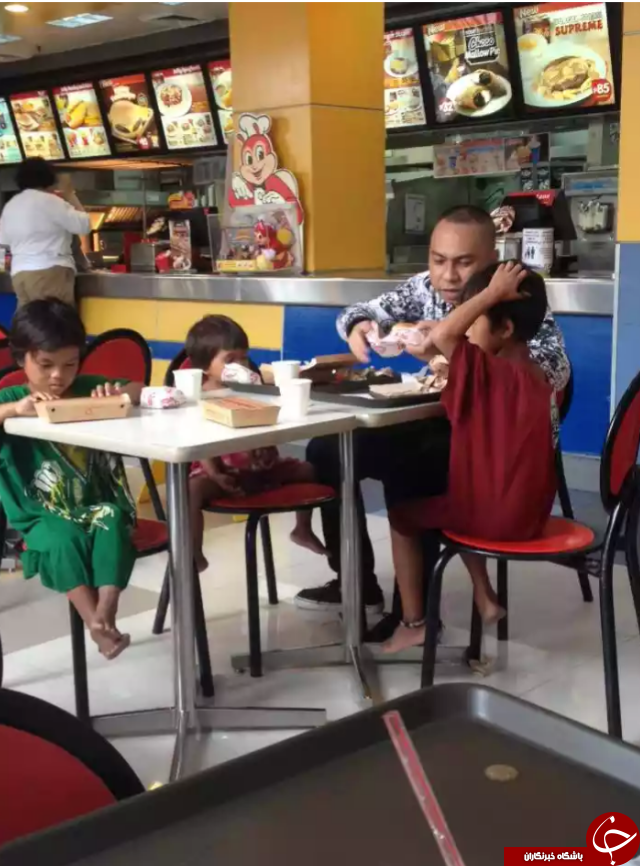 مردی که تحسین کاربران اینترنت را برانگیخت + تصاویر