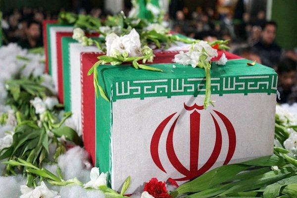 تدفین 2 شهید گمنام در سهرابیه مهرشهر